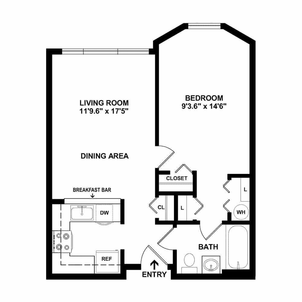 1 Bedroom | 1 Bath - 2D